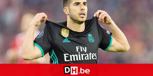 goalsjubel 1-2 goal scorer Marco Asensio (Real Madrid) GES / Football / Champions League semi-finals: FC Bayern Munich - Real Madrid, 25.04.2018 - Football / Soccer Champions League semi-final: FC Bayern Munich vs Real Madrid, Munich, April 25, 2018 - | usage worldwide Reporters / DPA