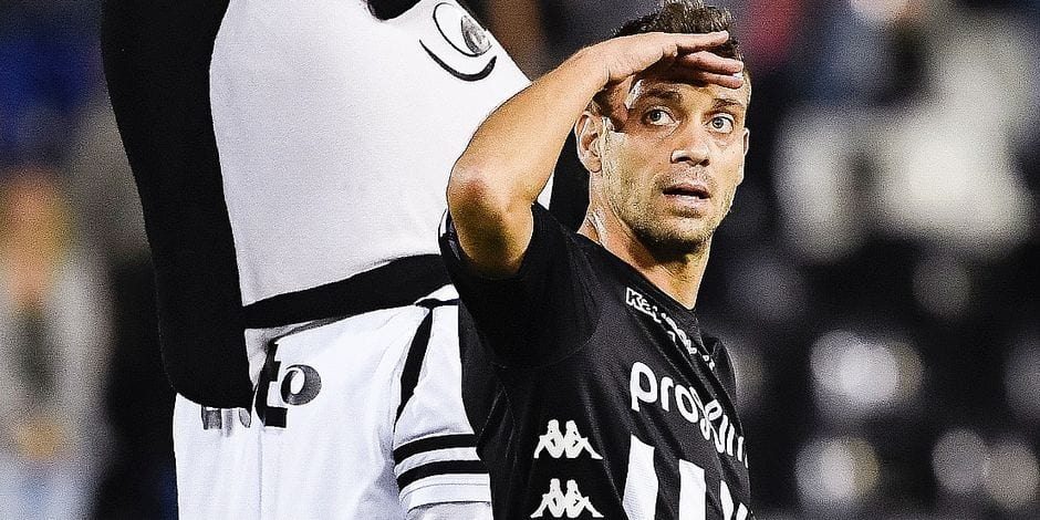 Charleroi's Francisco Javier Martos celebrates after winning the Jupiler Pro League match between Sporting Charleroi and Royal Excel Mouscron, in Charleroi, Saturday 01 September 2018, on the sixth day of the Jupiler Pro League, the Belgian soccer championship season 2018-2019. BELGA PHOTO LAURIE DIEFFEMBACQ