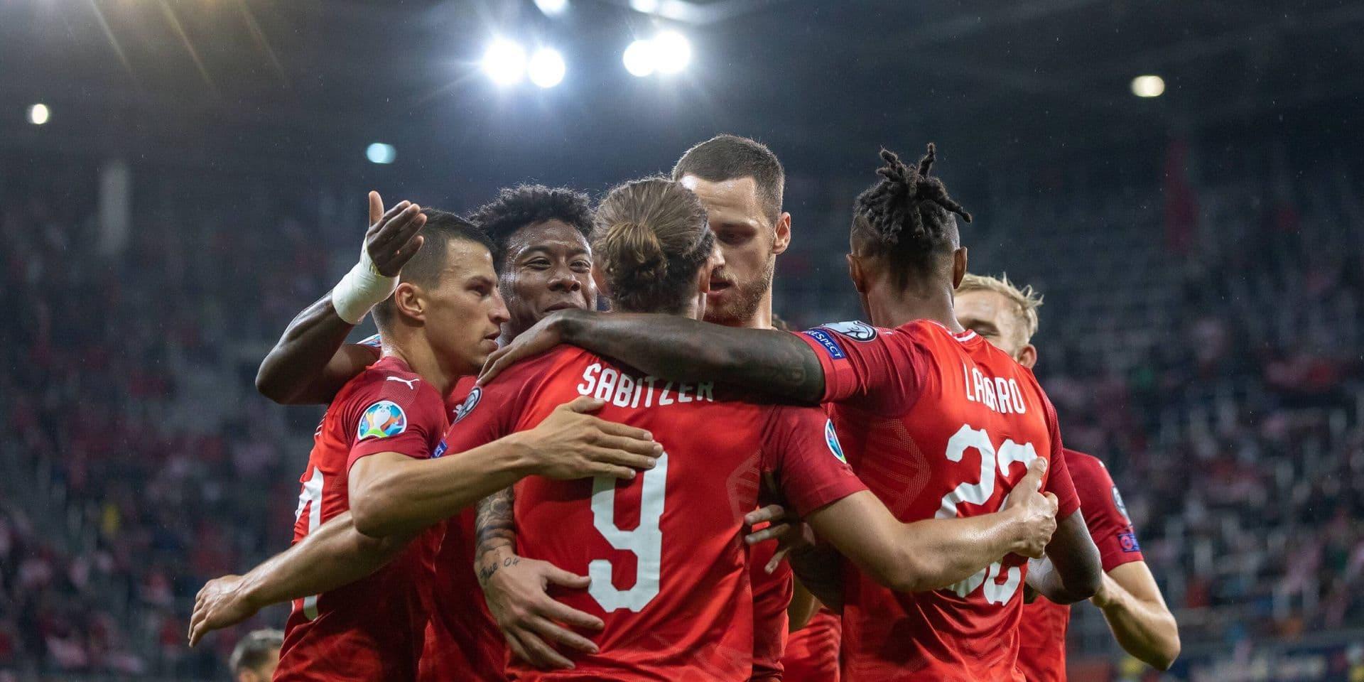 L'équipe autrichienne, après des tirs au but réussis