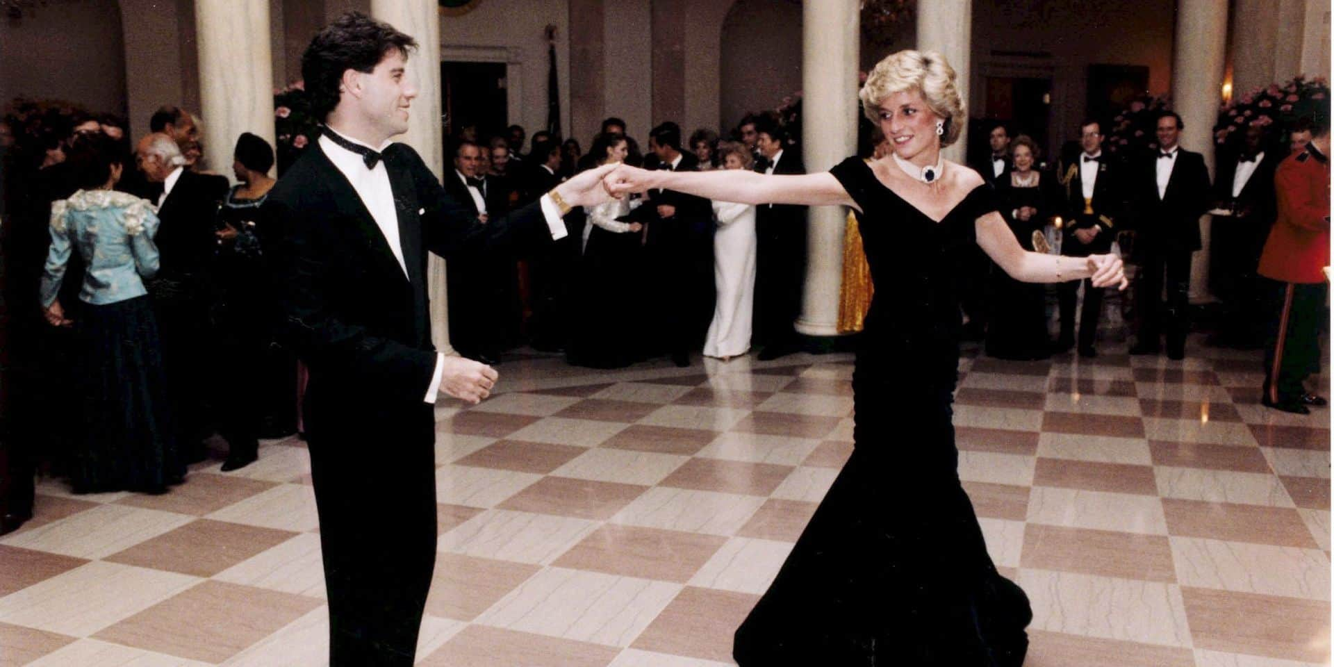 File picture dated November 1985 showing the late Diana, Princess of Wales dancing with Hollywood actor John Travolta during a White House party
