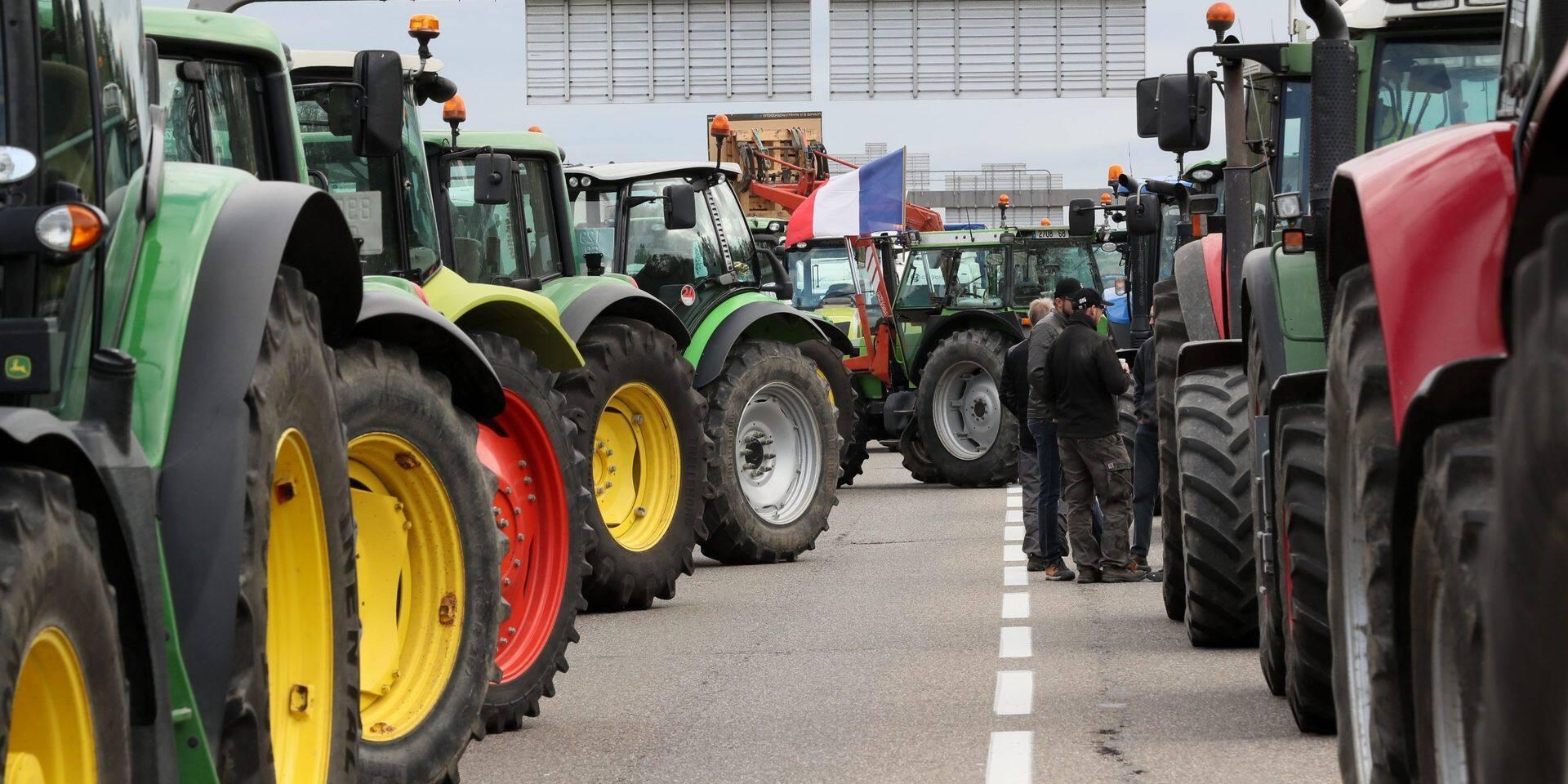 Manifestation des agriculteurs français : le poste frontière d'Hensies rouvert à la circulation