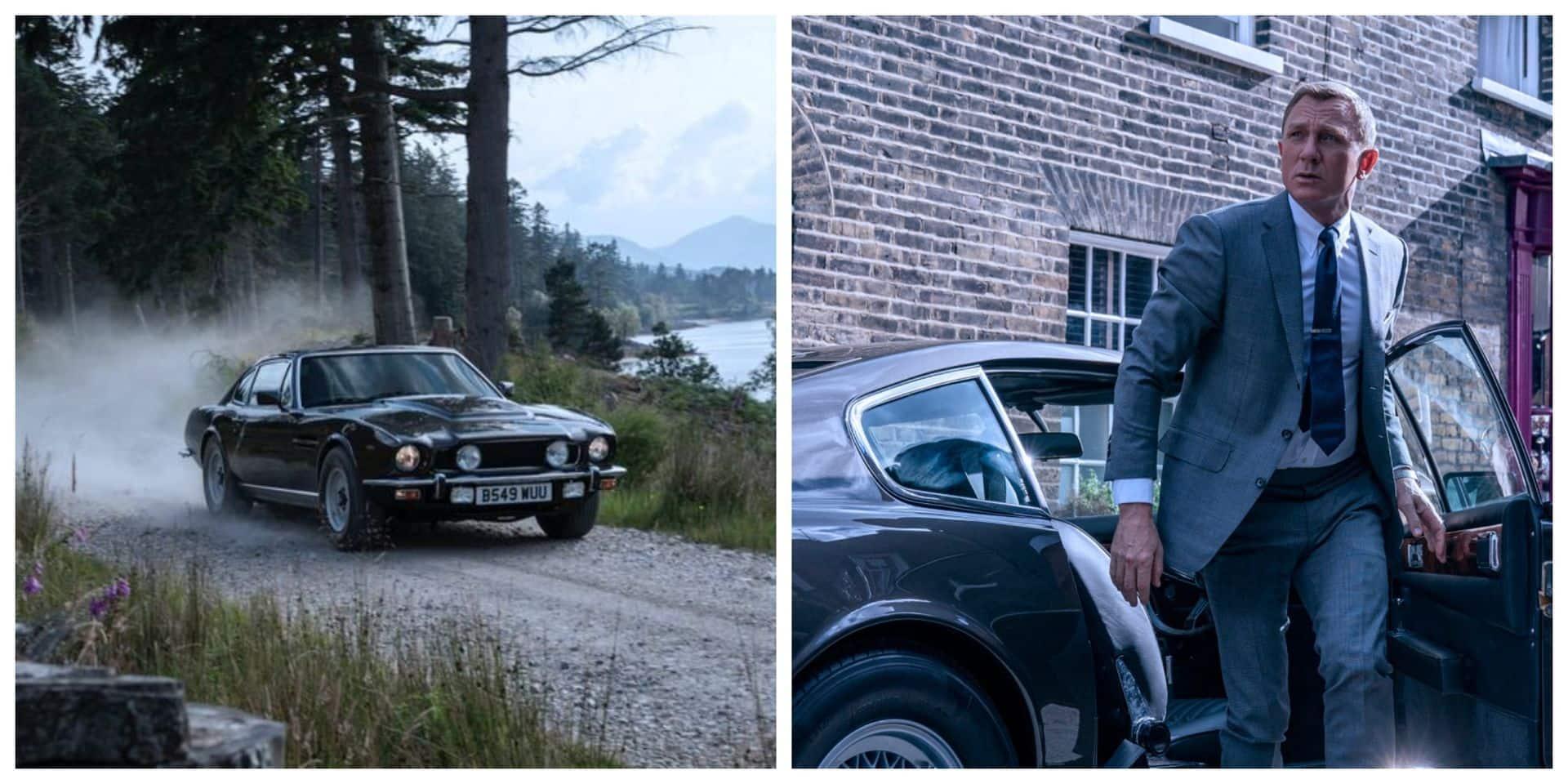 James Bond retrouve sa vieille Aston Martin V8 Vantage de 1987 dans No Time To Die