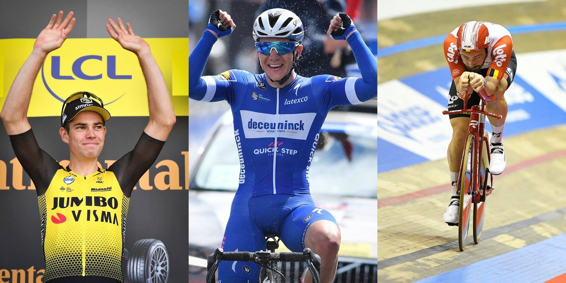 Un trio 100% cycliste en compétition pour remporter le titre de sportif de l'année : une première depuis la création du concours