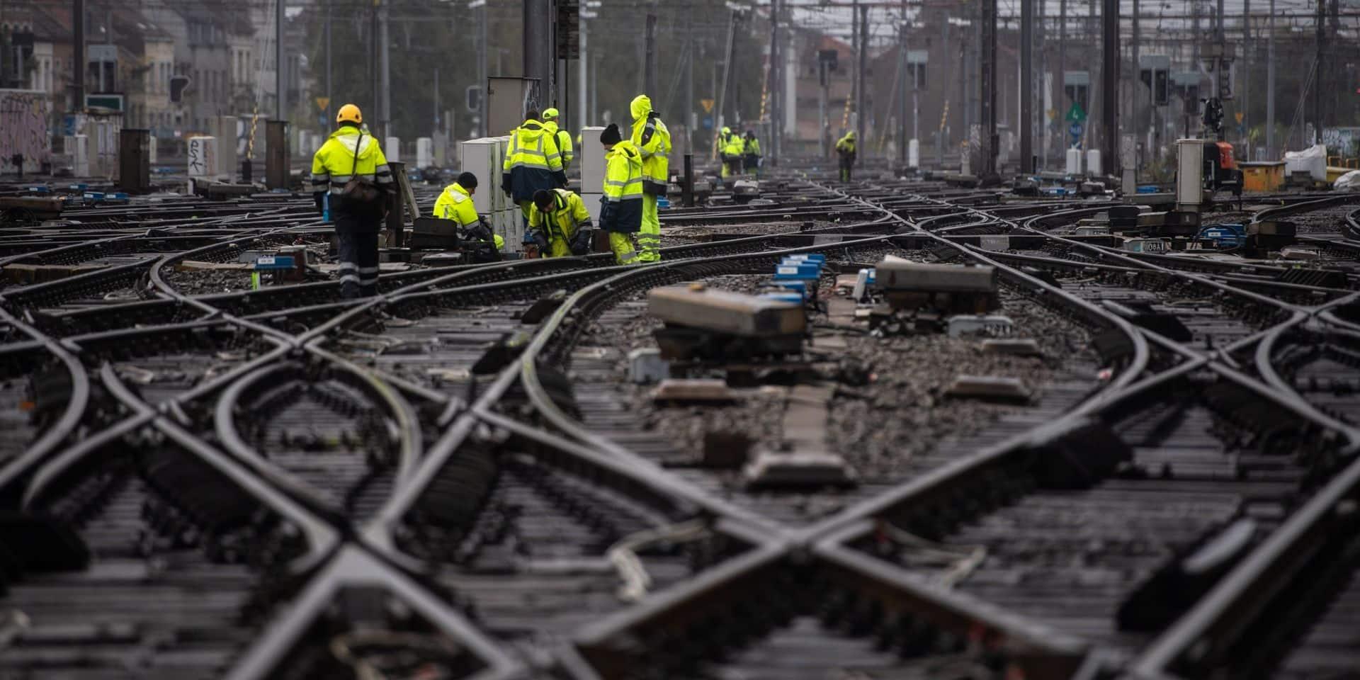 jonction Nord-Midi, SNCB, Infrabel, travaux, ferroviaire