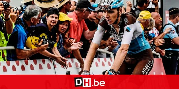 France's Romain Bardet crosses the finish line to place 13th of the 17th stage of the 105th edition of the Tour de France cycling race, between Bagneres-de-Luchon and Saint-Lary-Soulan Col du Portet, southwestern France, on July 25, 2018. / AFP PHOTO / Philippe LOPEZ