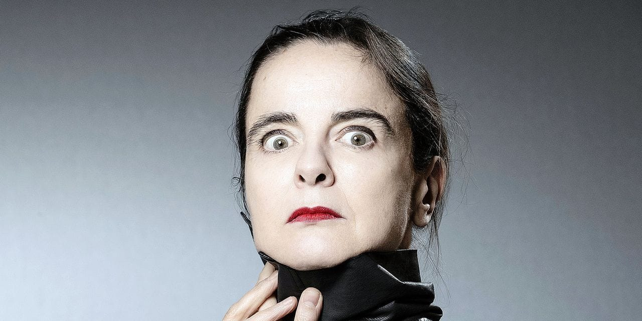 Belgian writer Amelie Nothomb poses during a photo session on January 30, 2019 in Paris. (Photo by JOEL SAGET / AFP)