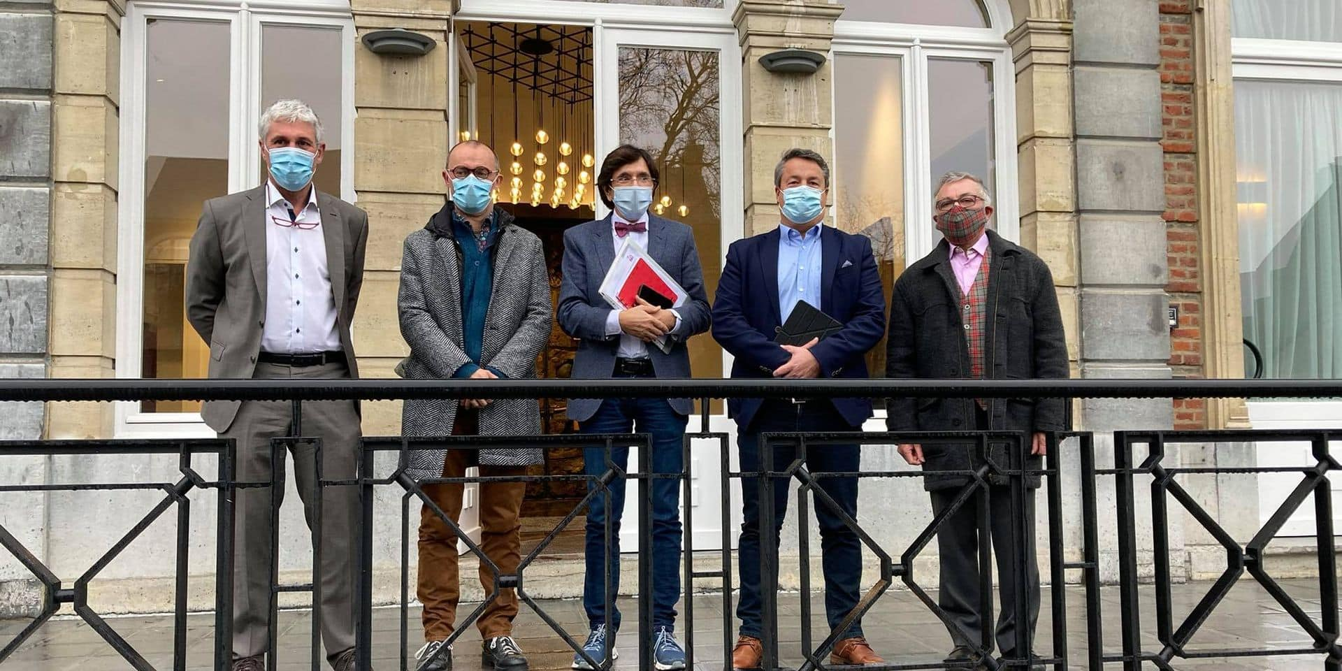 Laurent Devin et Paul Furlan ont plaidé la cause des louageurs auprès d'Elio Di Rupo