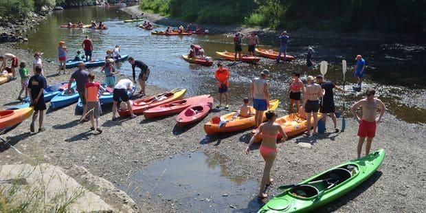 Les kayaks contrôlés sur l'Ourthe - La DH