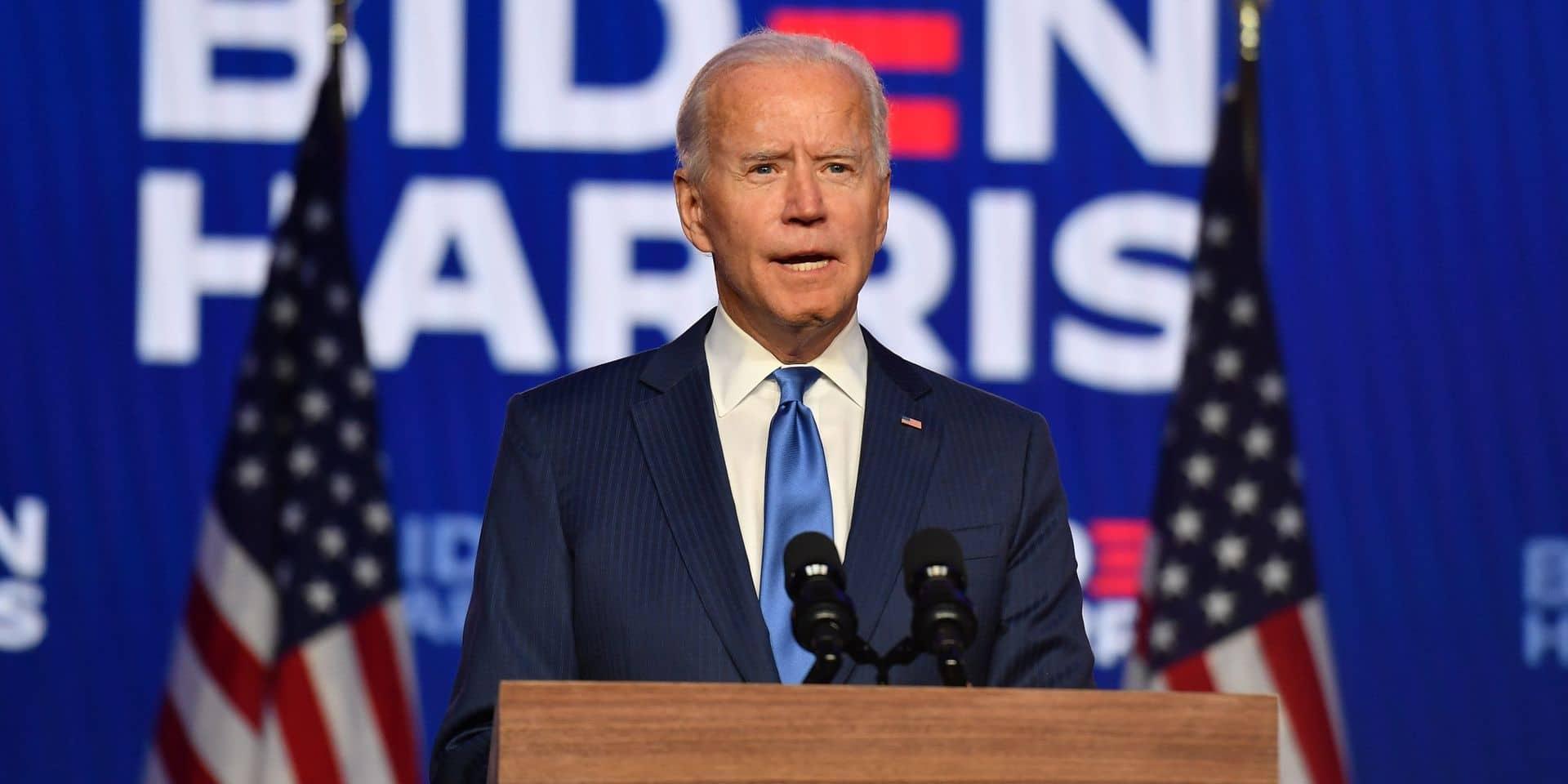 """Le discours de Joe Biden cette nuit : """"Nous allons gagner cette course avec une nette majorité"""""""