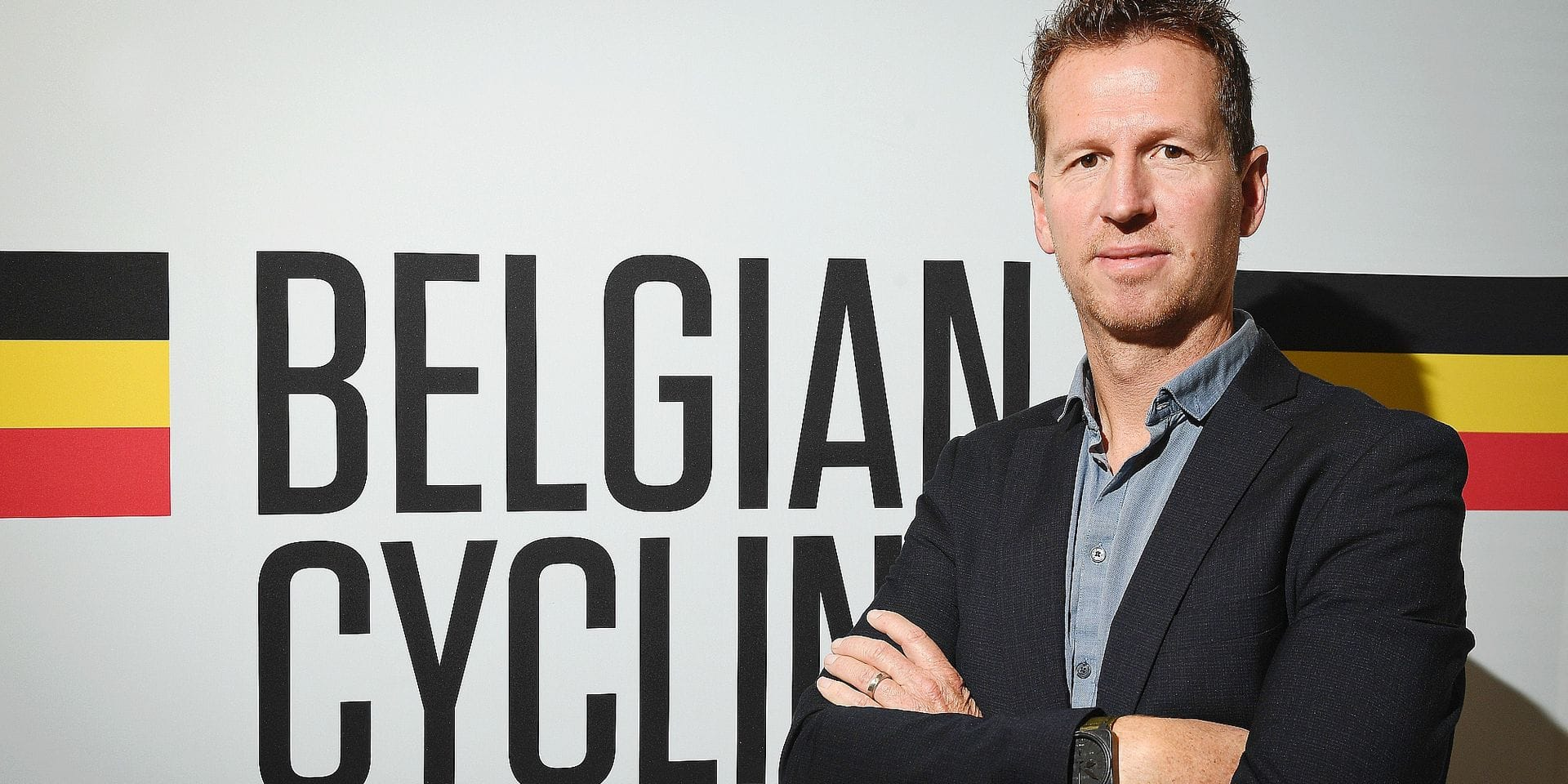 Rik Verbrugghe poses for the photographer during a press conference to present the new Belgian federal cycling coach for the elite and U23 men, at the Royal Cycling Association headquarters in Brussels, Thursday 08 November 2018. BELGA PHOTO DAVID STOCKMAN