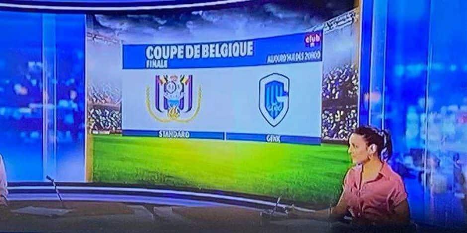 Finale de Coupe de Belgique: quand RTL confond le Standard avec... Anderlecht