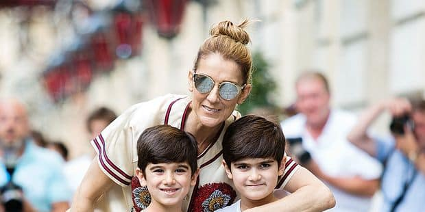 Celine Dion and her twins going to Optician - Paris