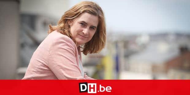 Photos Bernard Demoulin : Elke Van Den Brandt Ministre de la Mobiltee a Bruxelles