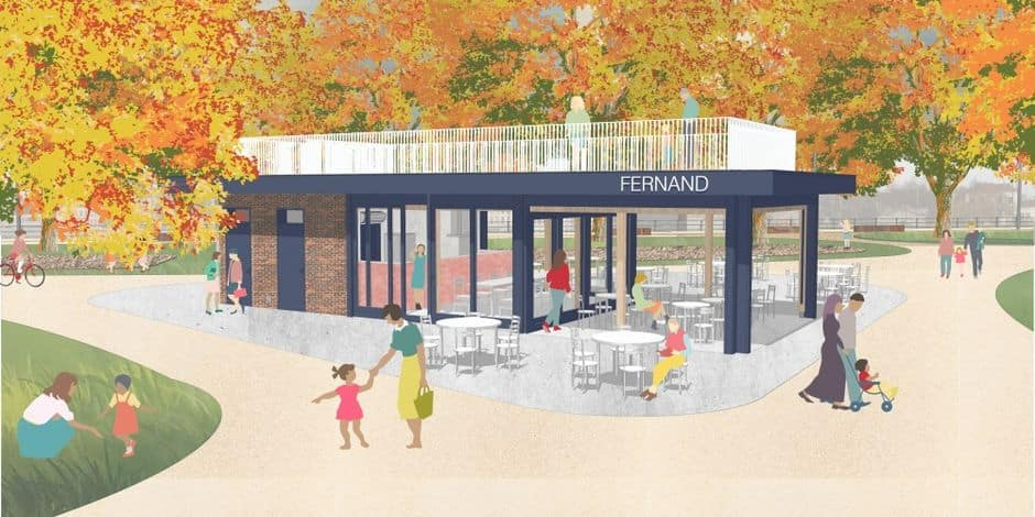 Molenbeek : la construction du kiosque dans le parc de la Porte de Ninove commence ce mois-ci