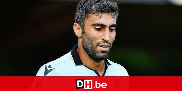 Club's Kaveh Rezaei pictured during a friendly soccer game between Belgian team Club Brugge and Croatian NK Lokomotiva Zagreb, Friday 12 July 2019, in Deinze, in preparing for the start of the 2019-2020 season of the Belgian Jupiler Pro League competition. BELGA PHOTO JOHAN EYCKENS