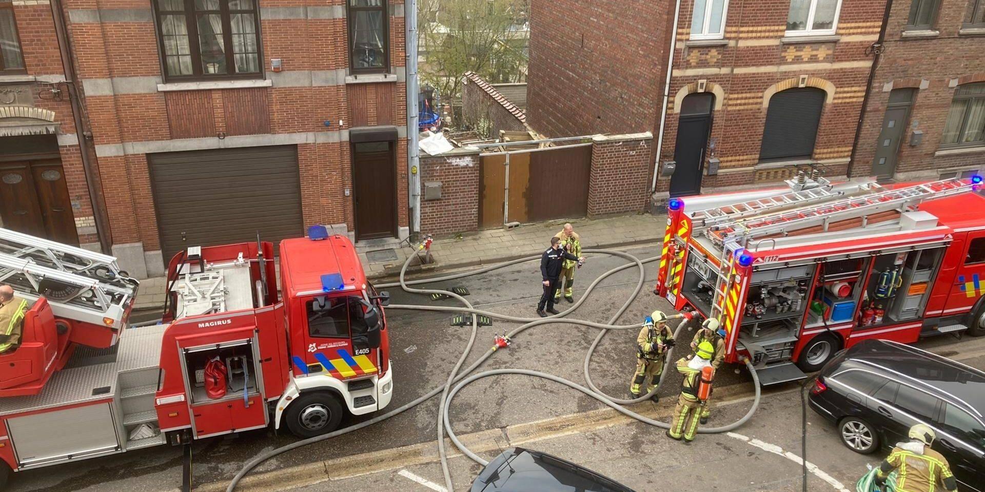 Incendie dans un bâtiment à Verviers