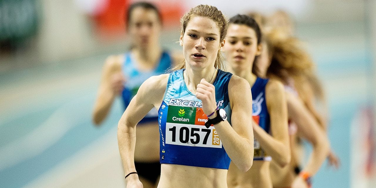 Camille Muls pictured in action during the Belgian Indoor Athletics championships for all categories, Sunday 17 February 2019, in Gent. BELGA PHOTO JASPER JACOBS