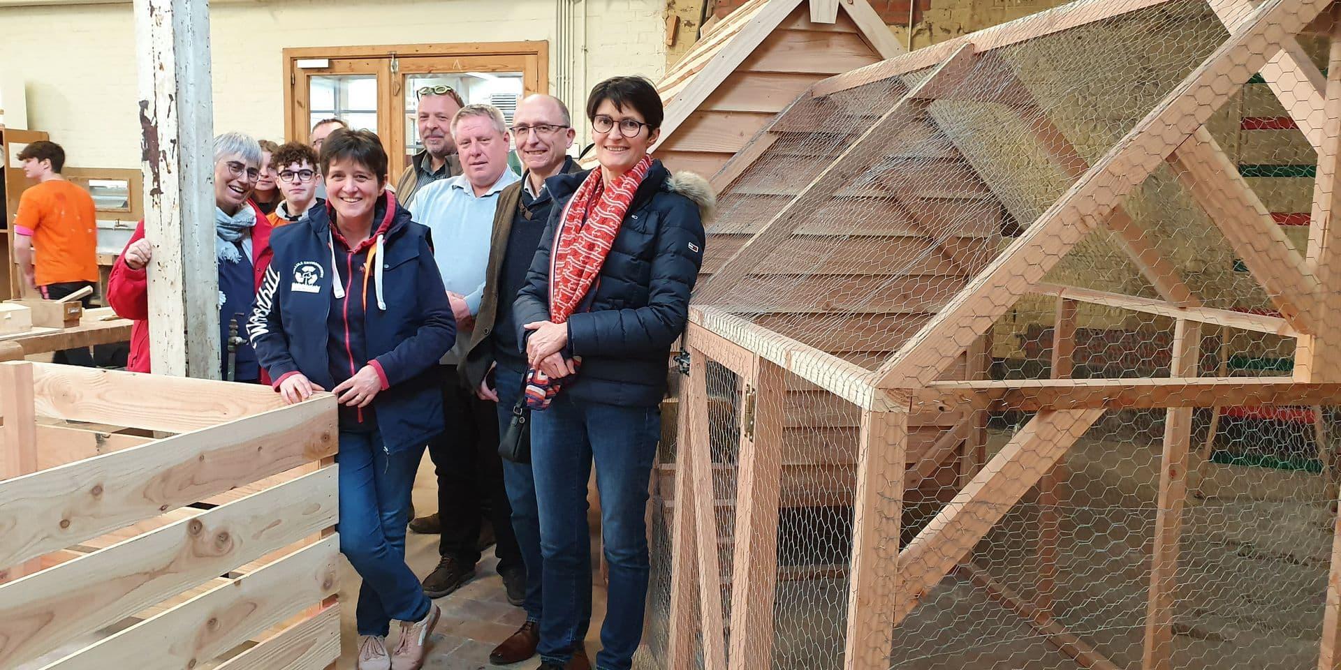 Les poules arrivent dans les écoles de Mouscron