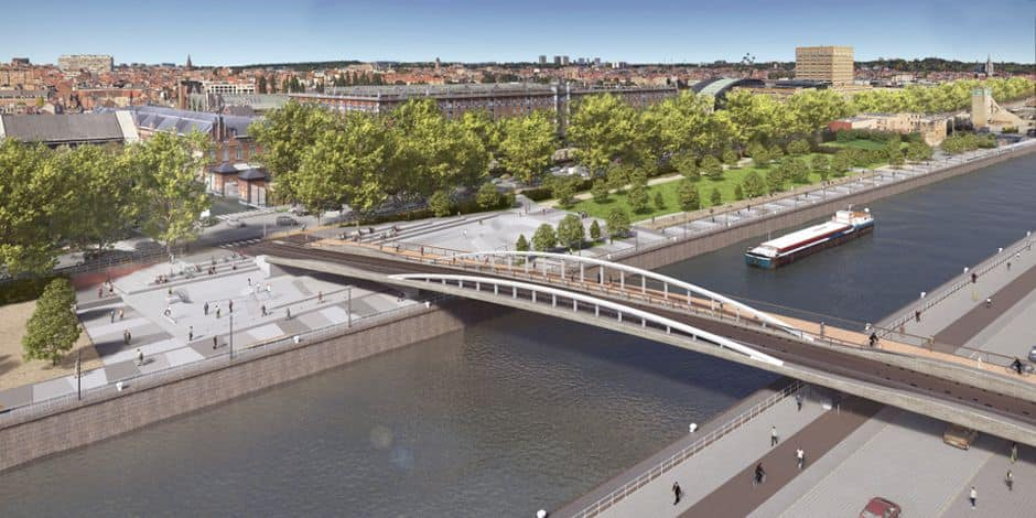 Bruxelles : début des travaux d'aménagement d'un nouveau pont enjambant le canal