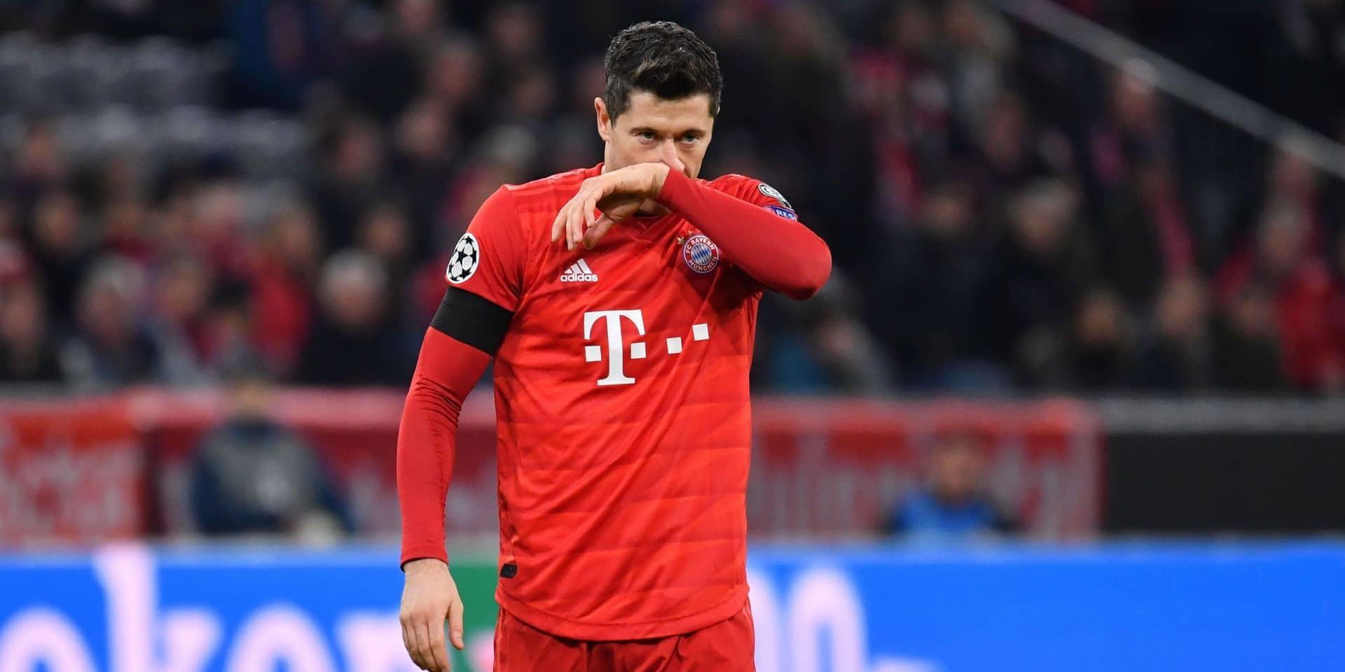 Robert Lewandowski (Bayern Munich) a repris la course après sa blessure au genou