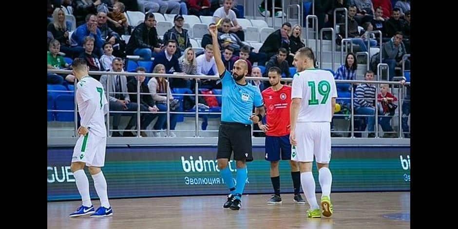 Le Bernissartois Yasin Alageyik, seul arbitre international de futsal en Wallonie