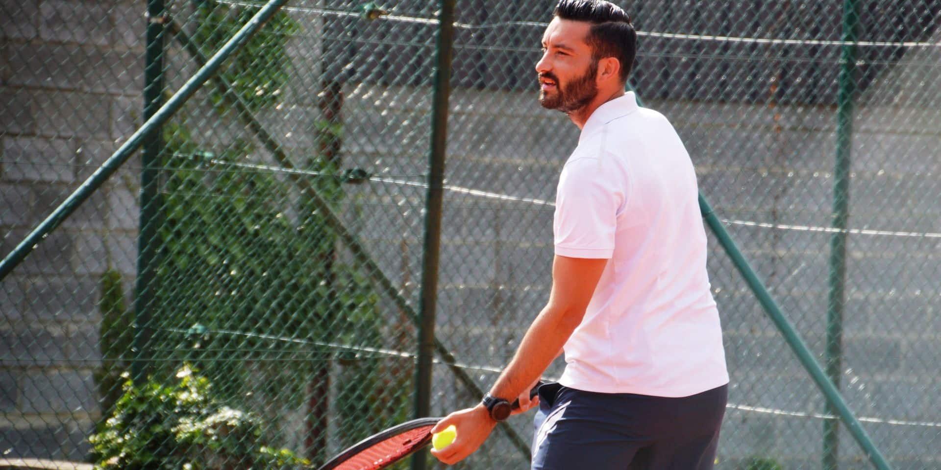 Joris Urbain, du football à Dottignies aux finales des tournois de tennis
