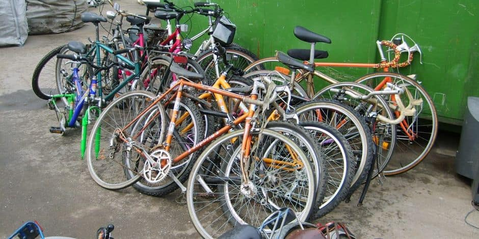 Province de Namur : collecte de vélos dans les recyparcs ce samedi jusque 17h