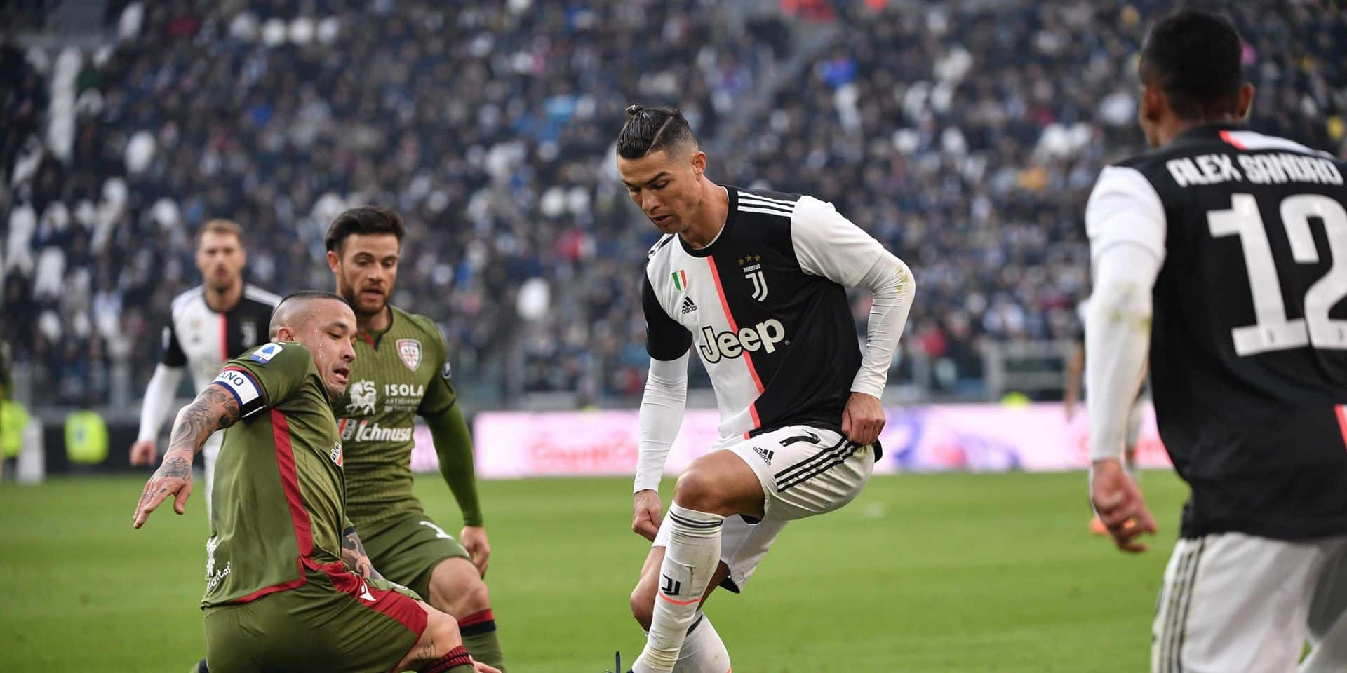 Nainggolan et Cagliari impuissants face à Cristiano Ronaldo, auteur d'un triplé