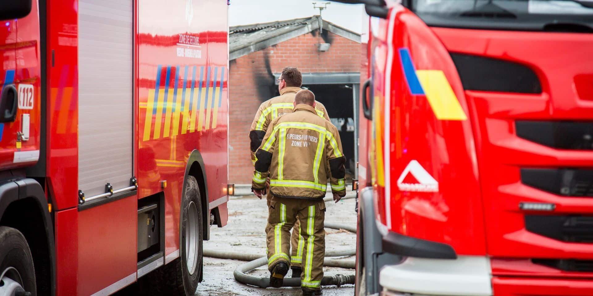 Une habitation de Fosses-la-Ville s'embrase après une explosion