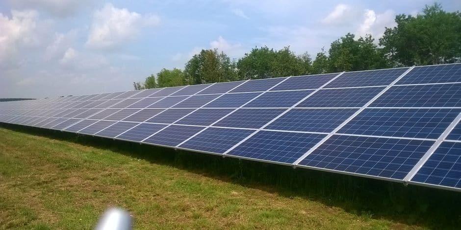 Tertre: le parc photovoltaïque d'Edouard Gallée s'apprête à voir le jour