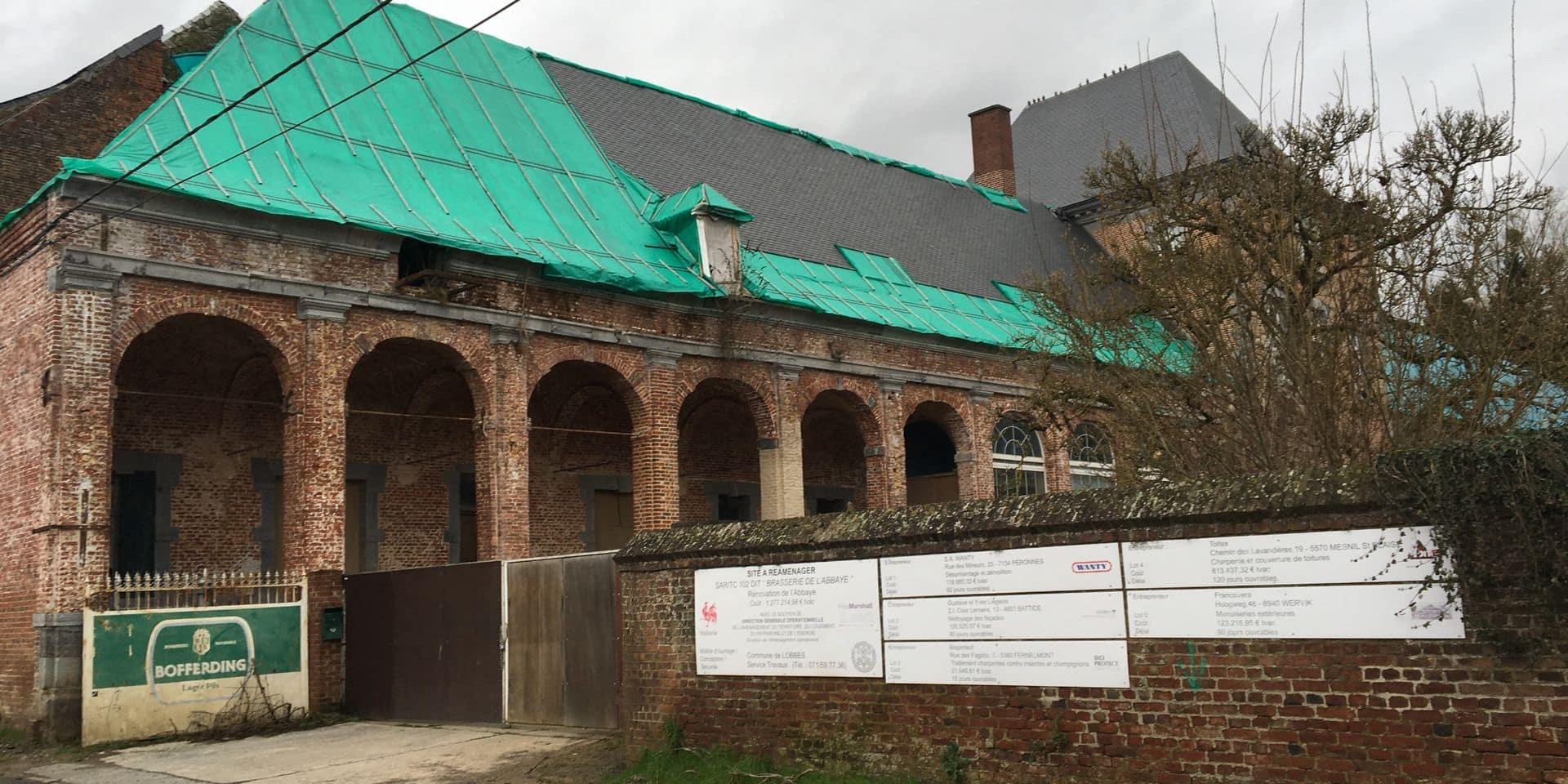 Les travaux de l'ancienne brasserie de l'Abbaye de Lobbes recommencent bientôt