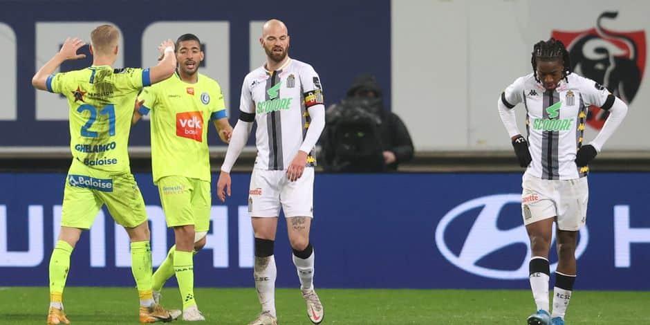 Charleroi subit une humiliation à Gand et dit définitivement adieu aux Playoffs 2 (4-0)
