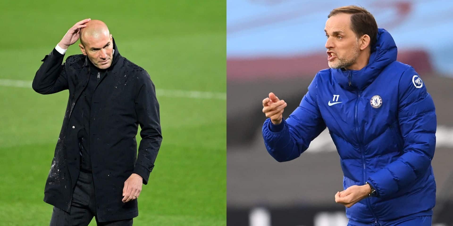 Real - Chelsea ou le face-à-face Zidane - Tuchel