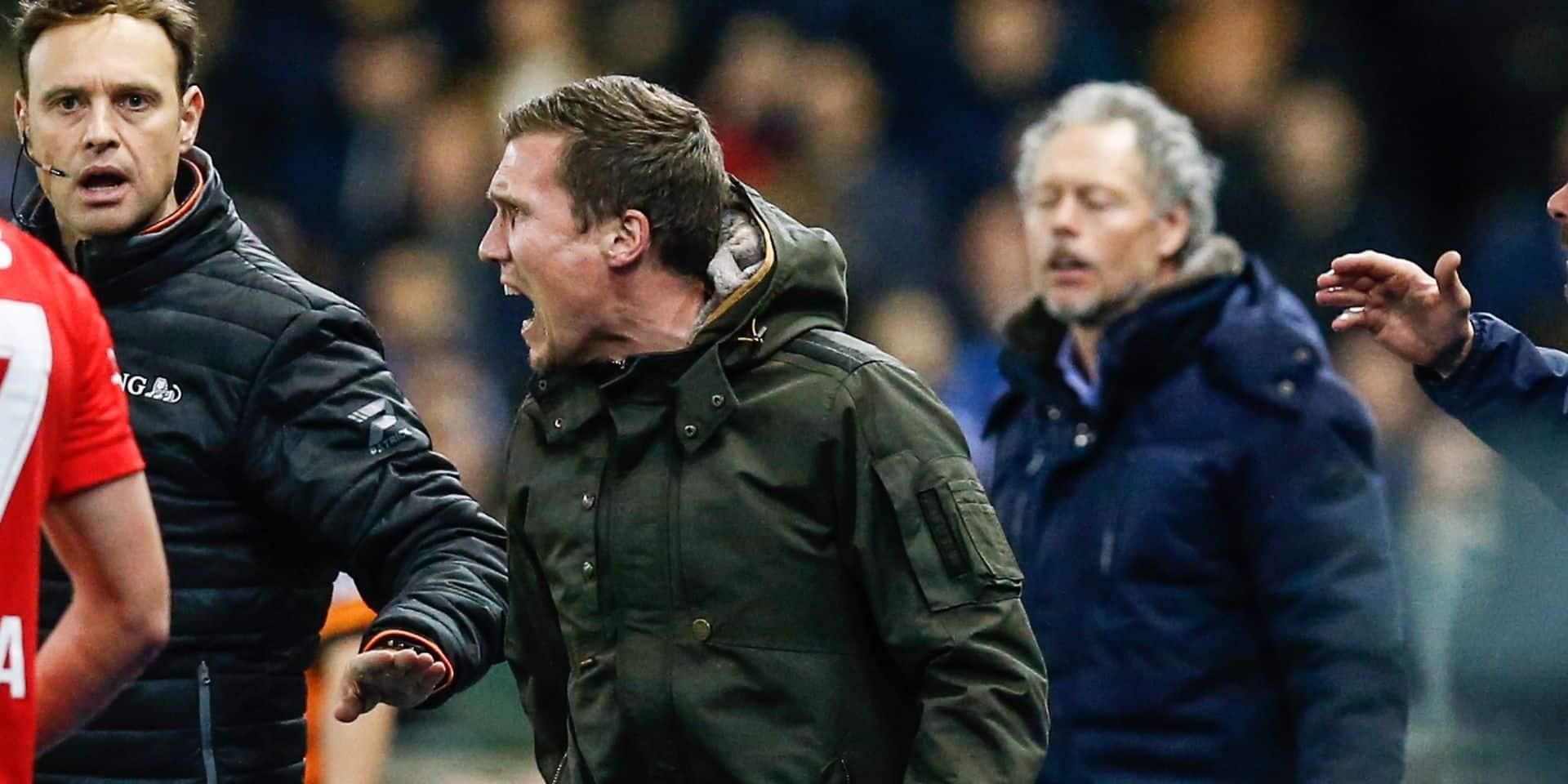 """L'entraîneur de Genk, Hannes Wolf, est en colère: """" Je n'aime pas me plaindre de l'arbitrage, mais aujourd'hui c'est trop !"""""""