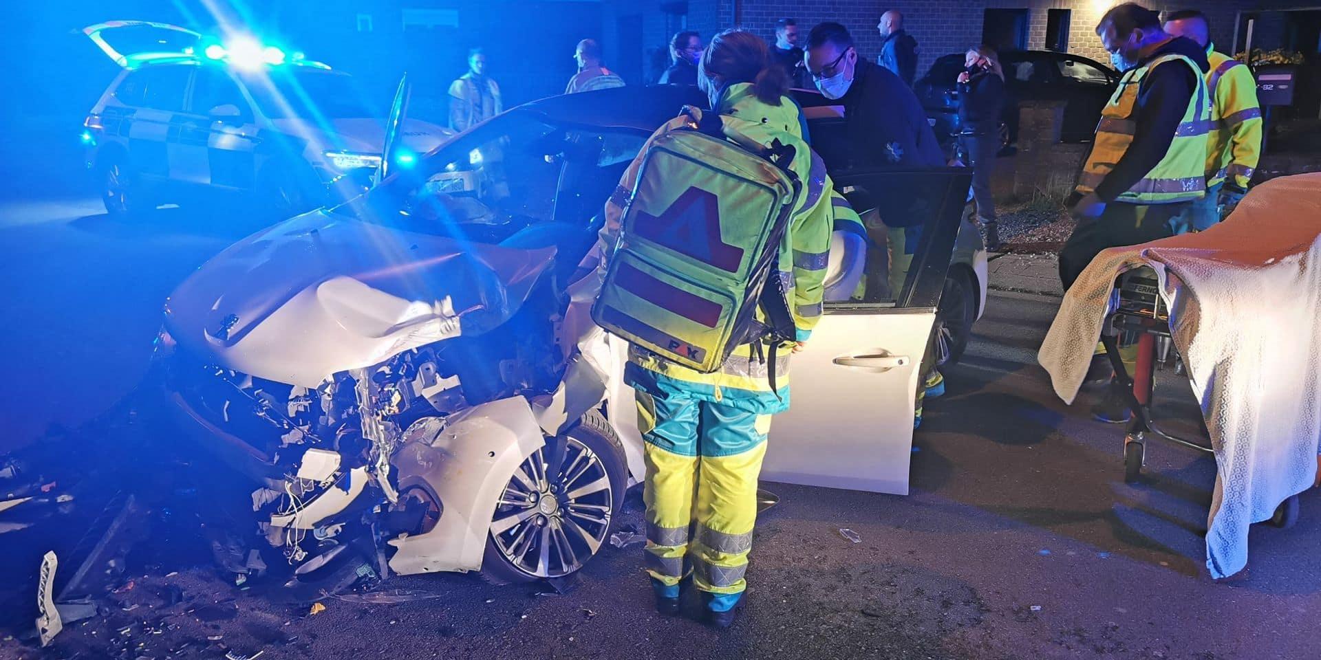 Nalinnes: une conductrice blessée dans un accident de voiture