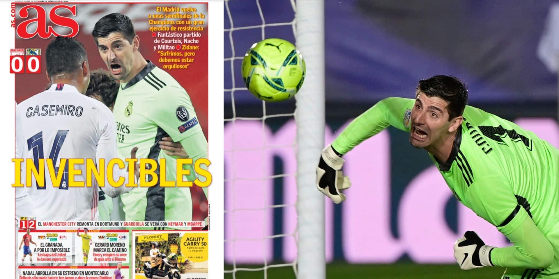 """""""Saint-Courtois"""", """"fondamental"""", """"un crack"""": la presse espagnole applaudit le match de Courtois face à Liverpool"""