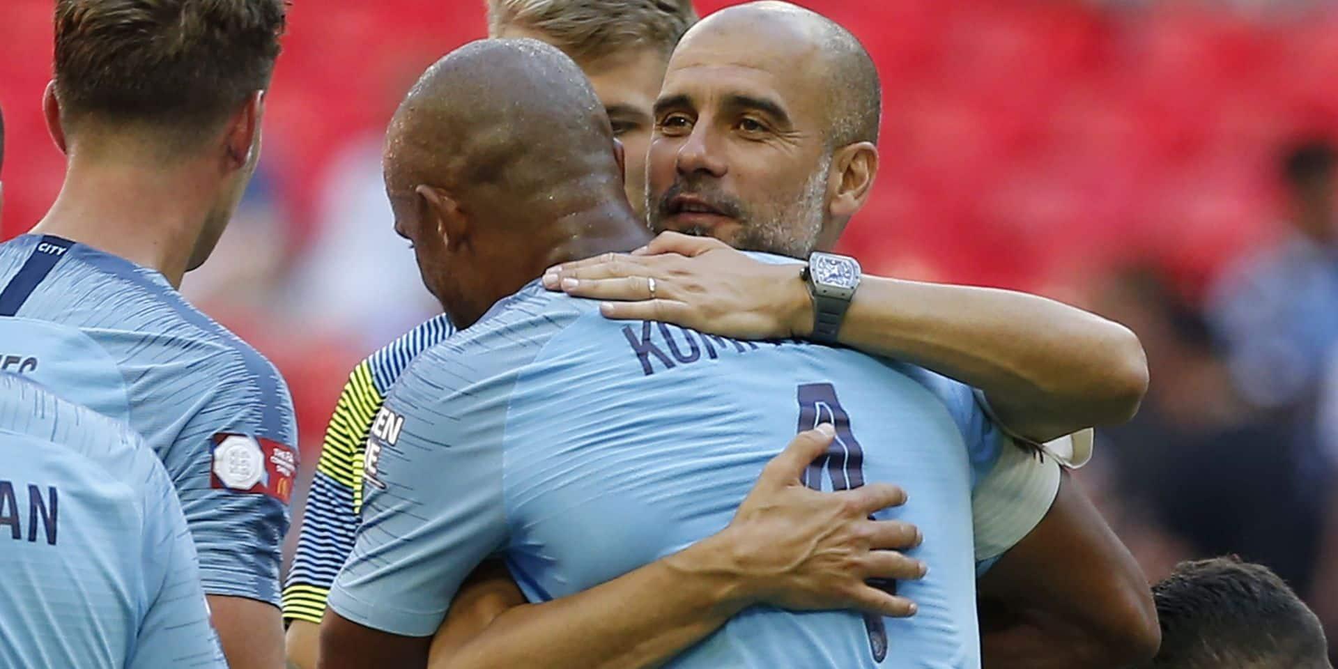 """Pep Guardiola revient sur les débuts de Kompany à Anderlecht : """"Avec 10 De Buryne, il sera un entraîneur incroyable !"""""""