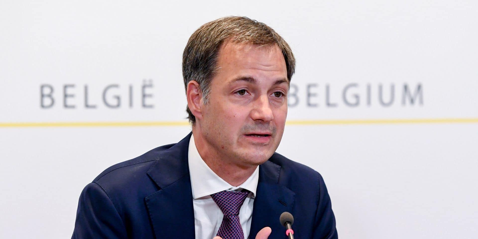 """Alexander De Croo réagit aux annonces du PS et d'Ecolo : """"On attend de nous de trouver des solutions, pas de créer des problèmes"""""""