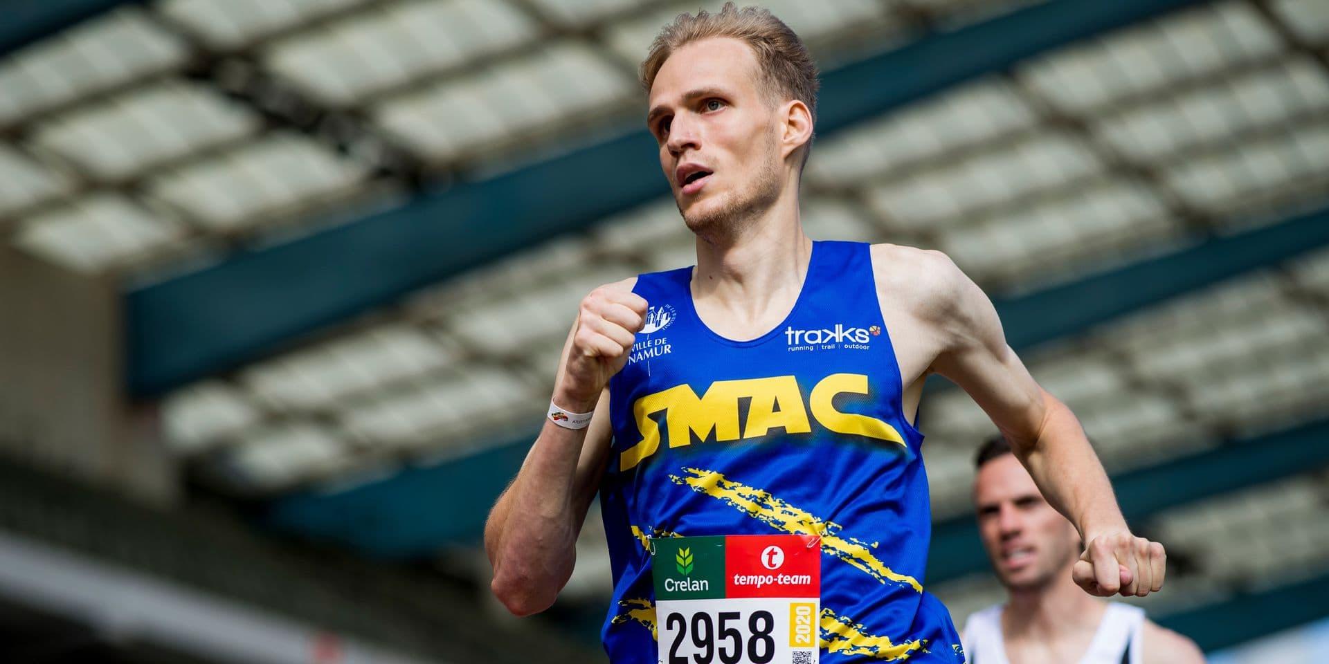 """Eliott Crestan, nouveau recordman belge en salle du 800m et qualifié pour l'Euro : """"Le record, un beau bonus"""""""