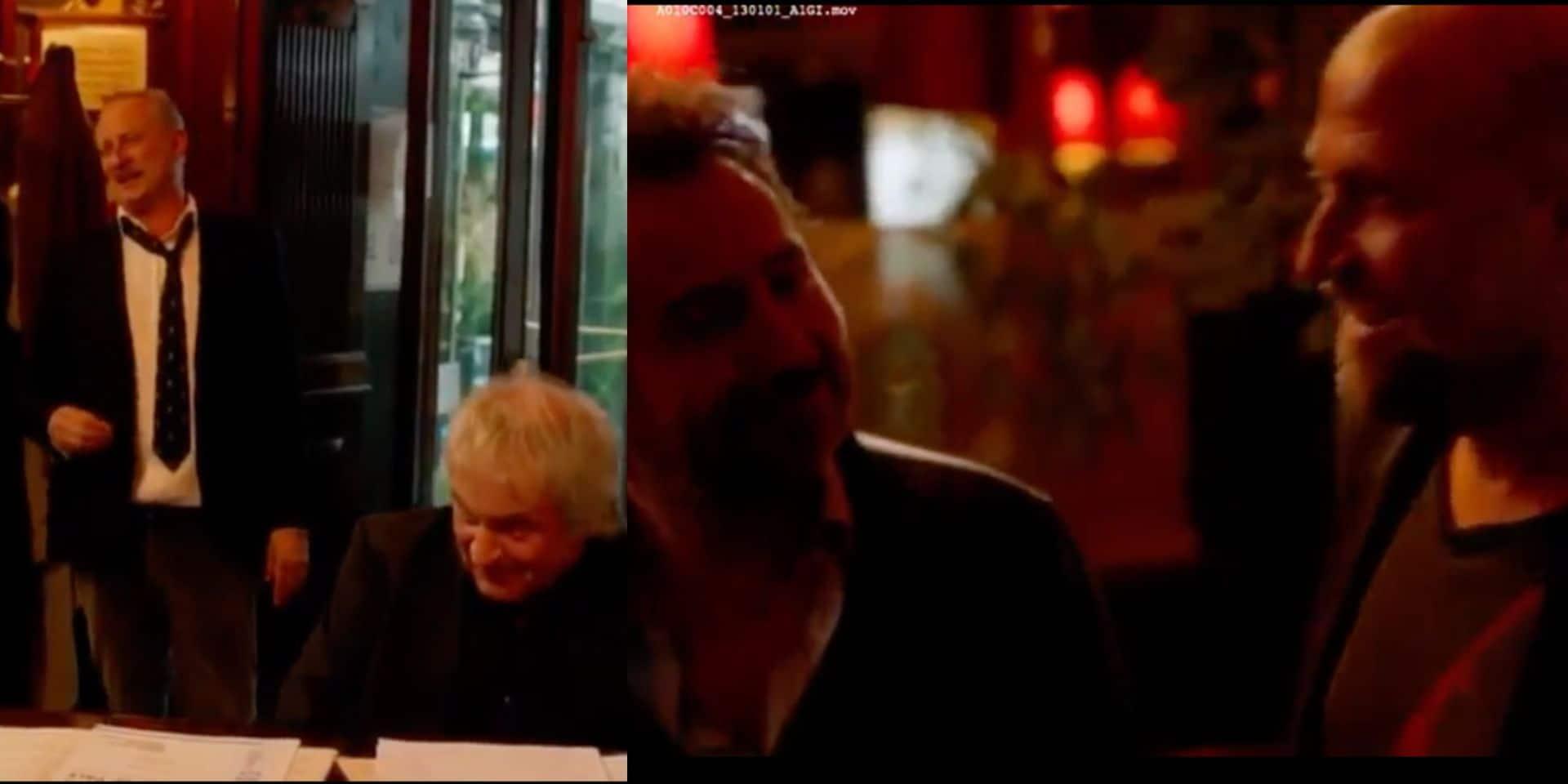 Benoit Poelvoorde dans toute sa splendeur: il improvise un chant avec François Damiens pour annoncer le nouveau film d'Edouard Baer