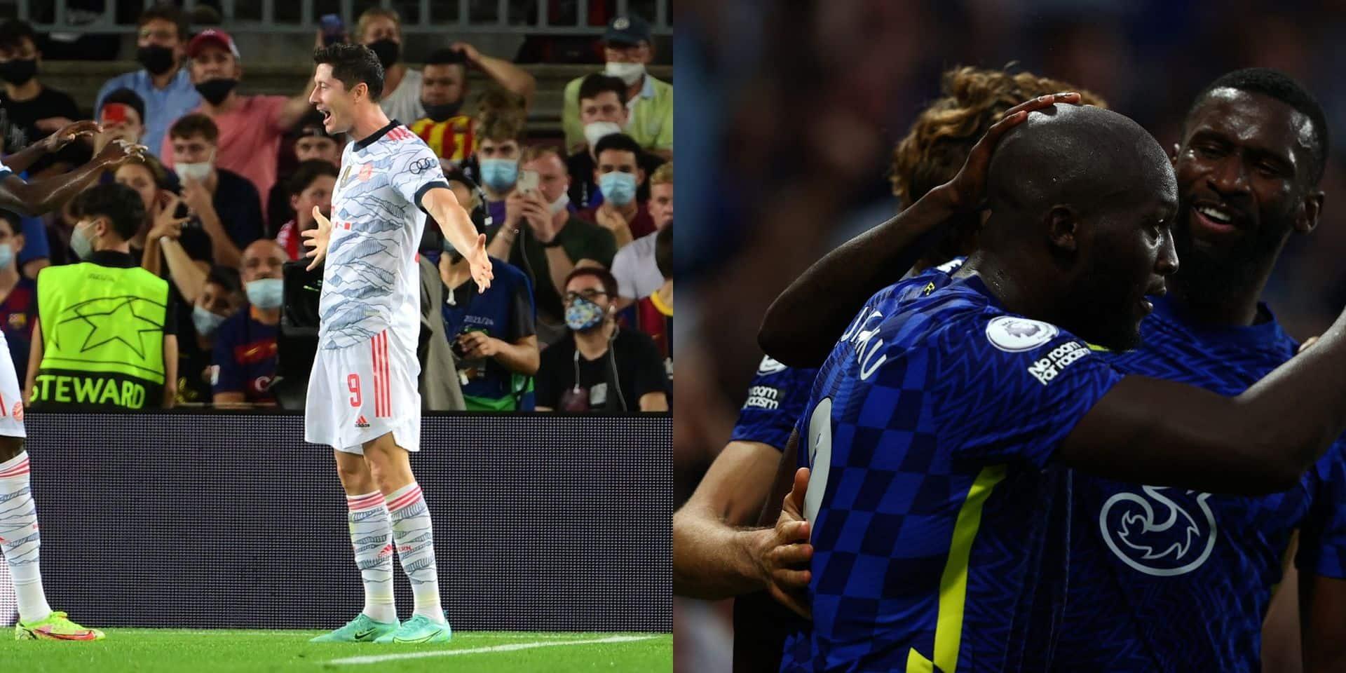 Multilive C1: Lewandowski et le Bayern écrasent le Barça (0-3), Lukaku délivre Chelsea contre le Zenit (1-0)
