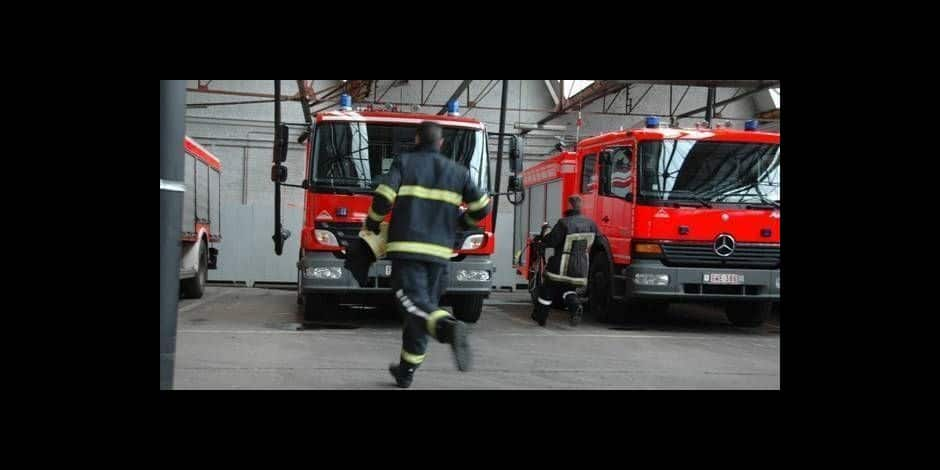 Esneux : une maison en proie aux flammes