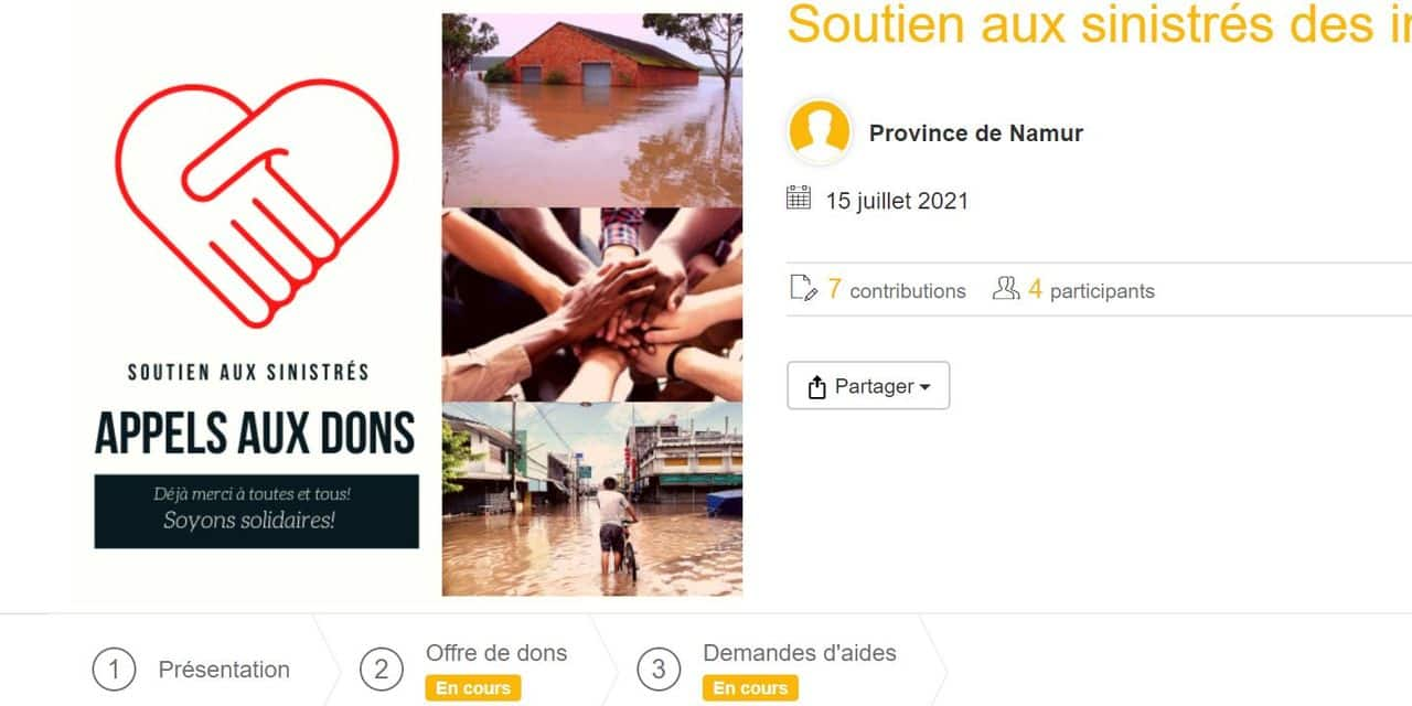 Province de Namur : un site web dédié à la solidarité et à l'entraide