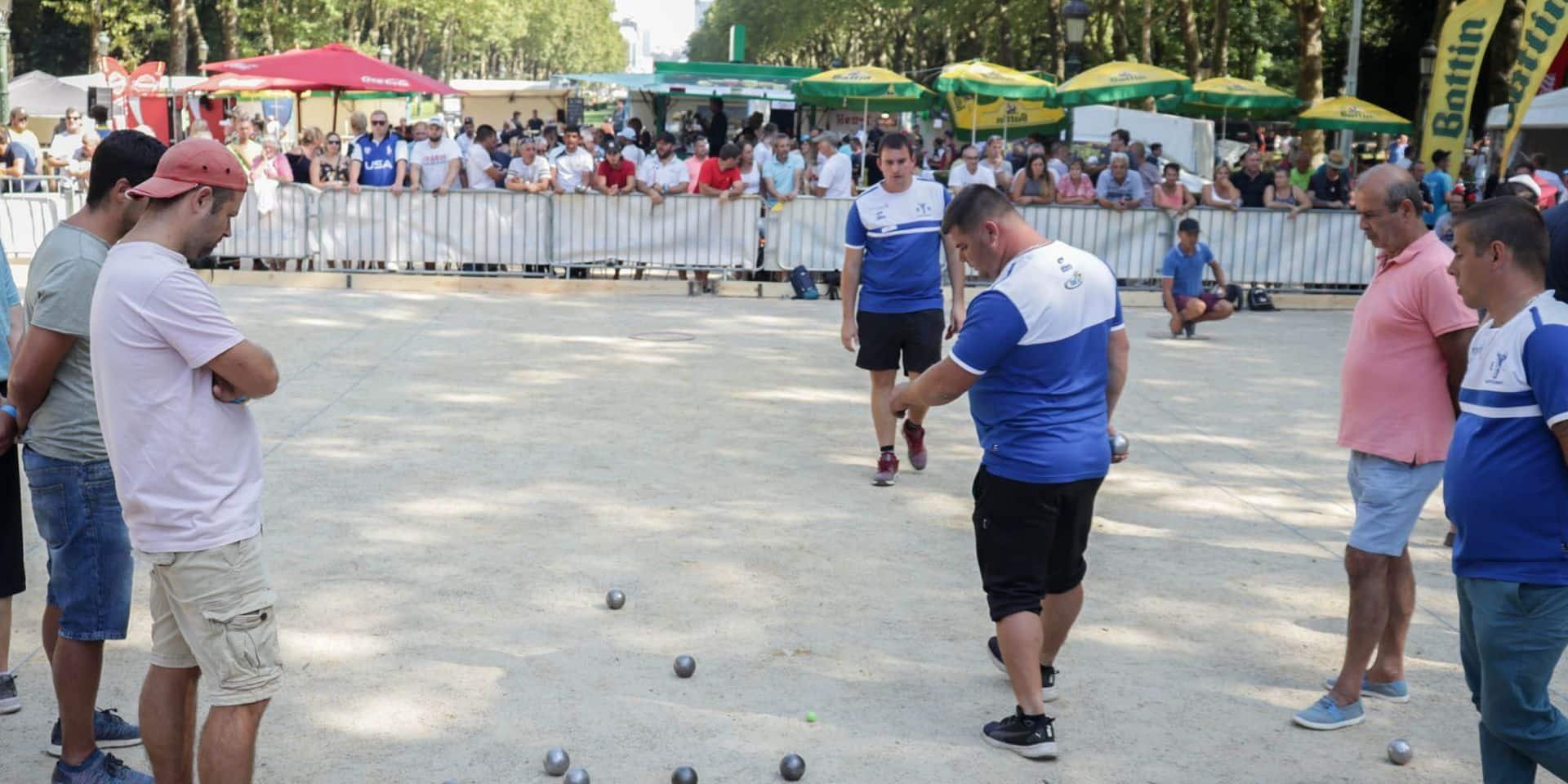 Succès de foule pour le tournoi international de pétanque La Bruxelloise