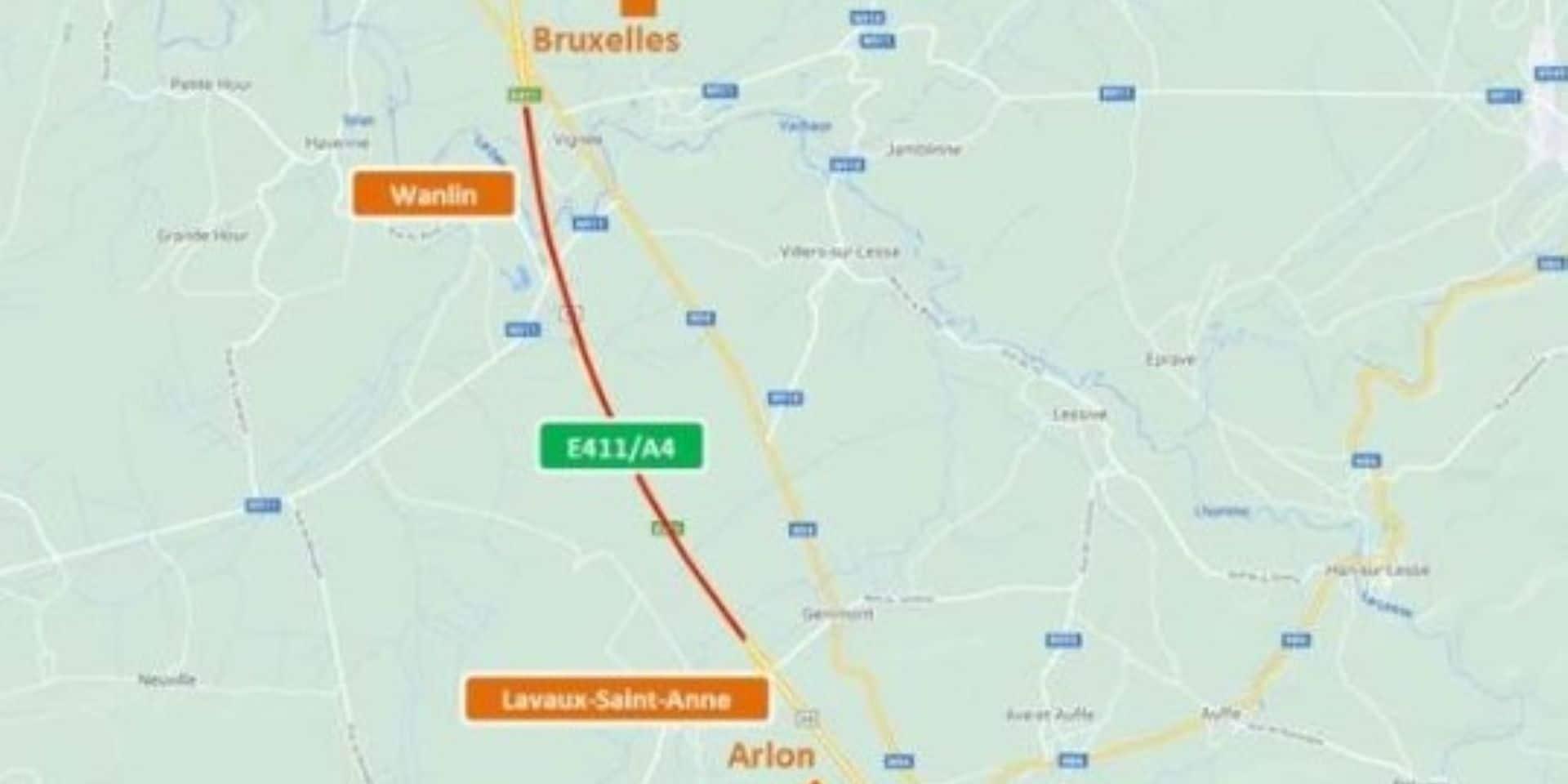 E411: un chantier de réhabilitation entre Wanlin et Lavaux-Saint-Anne vers Arlon