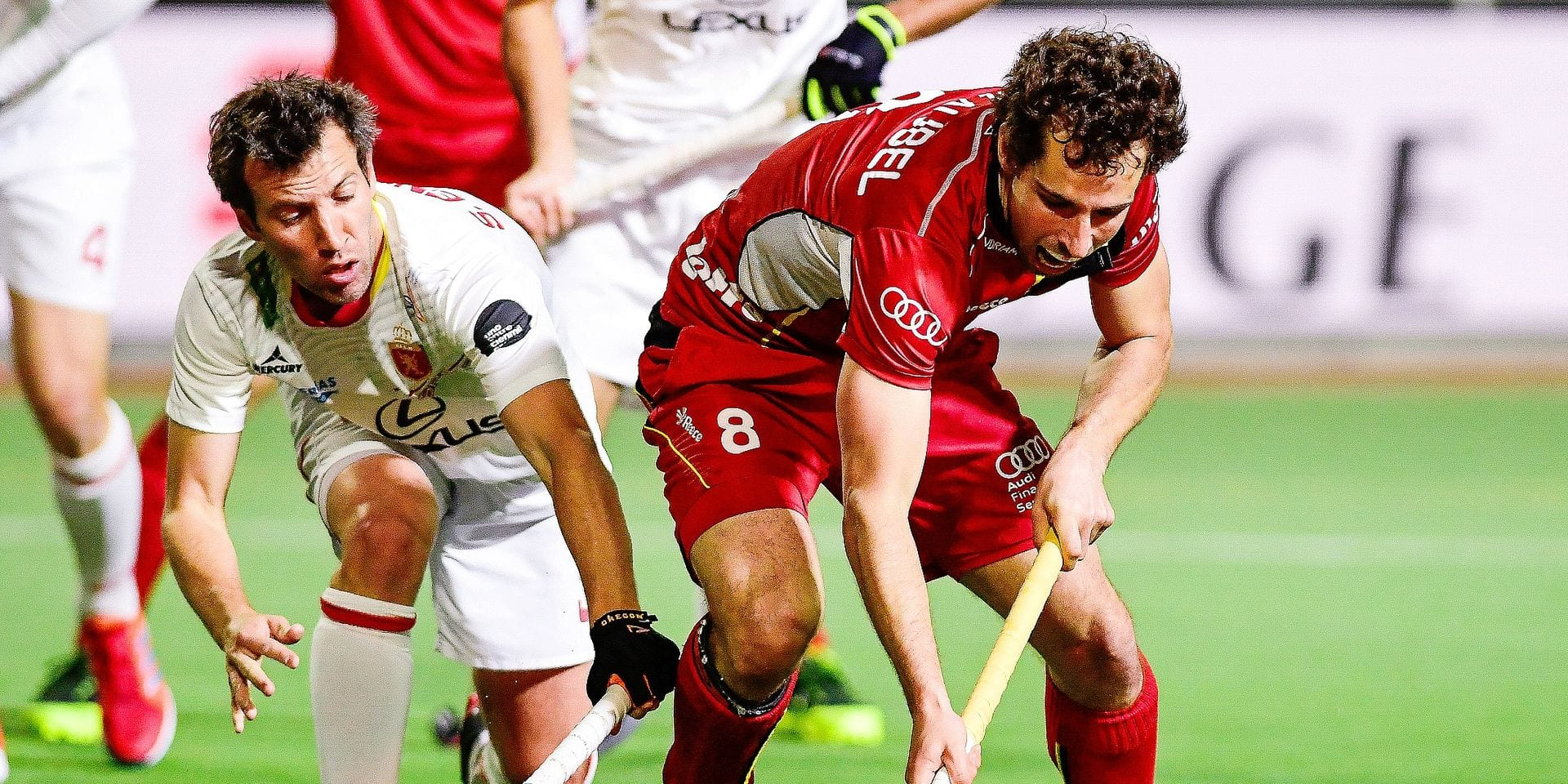 Belgium's Florent van Aubel pictured in action during a field hockey game between Belgium's national team Red Lions and Spain, Wednesday 10 April 2019 in Brussels, game 5/16 of the men's FIH Pro League competition. BELGA PHOTO LAURIE DIEFFEMBACQ