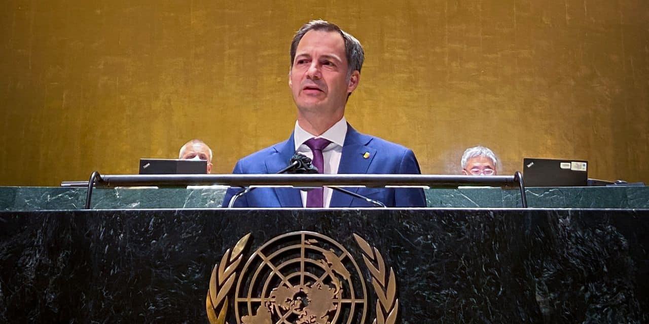 """Devant l'ONU, De Croo appelle à agir sur le climat dès maintenant: """"L'Europe et mon pays ont été durement touchés par des conditions météorologiques extrêmes"""""""