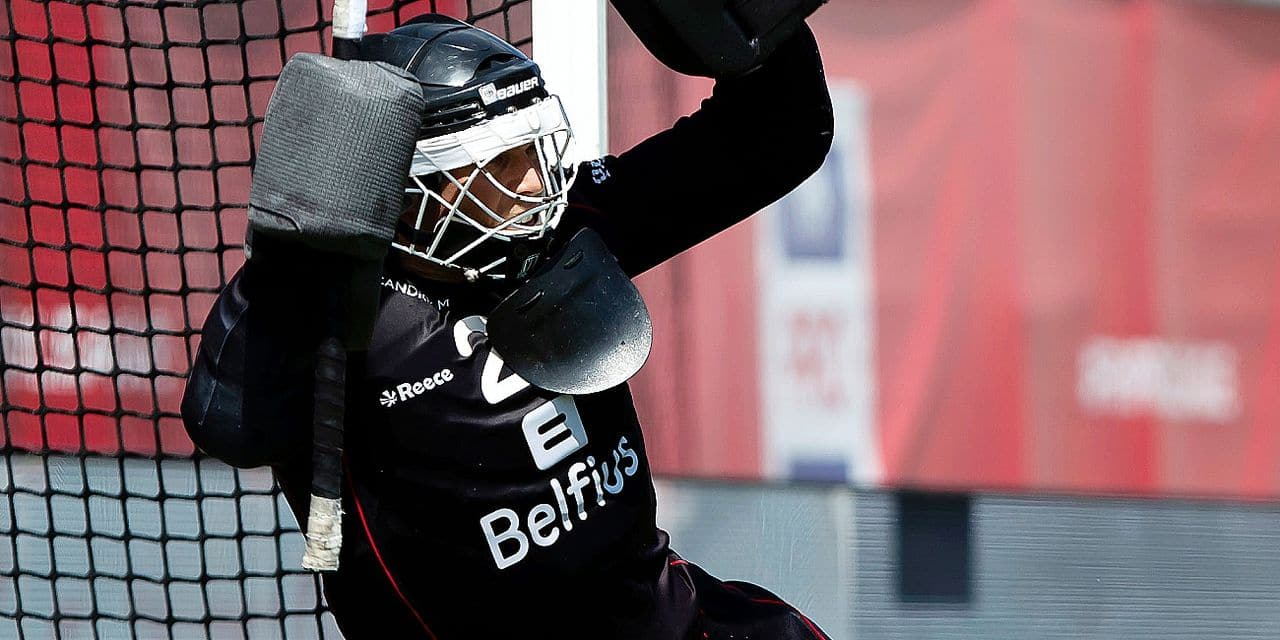 Belgium's goalkeeper Vincent Vanasch pictured in action during a field hockey game between Belgium's Red Lions and Germany, Sunday 02 June 2019 in Wilrijk, Antwerp, game 8/14 of the men's FIH Pro League competition. BELGA PHOTO KRISTOF VAN ACCOM