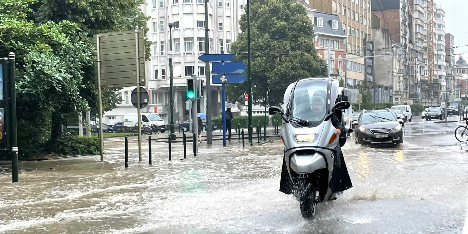 Fortes intempéries à Bruxelles: Neuf interventions des pompiers, d'importantes précipitations sont encore attendues dans les prochaines heures