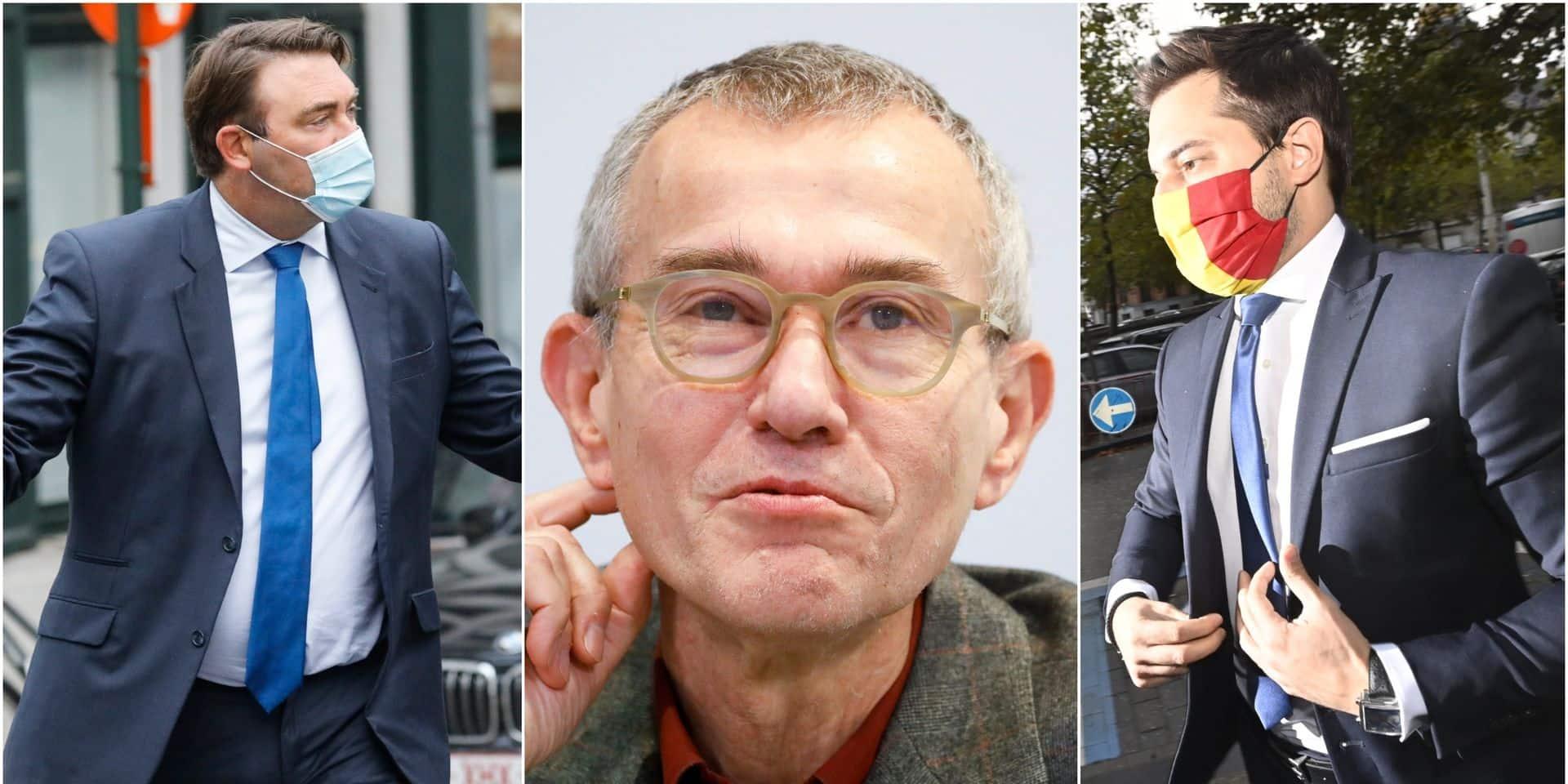 """""""Pas acceptable"""" pour Bouchez, """"il va devoir rendre des comptes"""" pour Ducarme : au MR, la sortie du ministre de la Santé Frank Vandenbroucke irrite"""